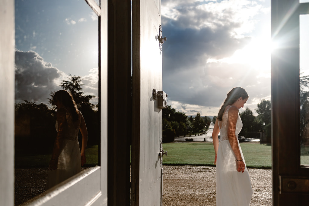 photographe mariage dijon bourgogne photo chateau arcelot mariee
